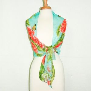 Accessories - Floral Blue Multi Women Scarf